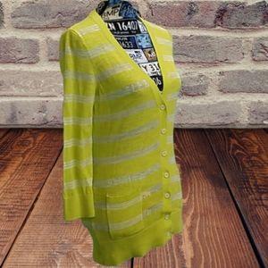EUC Ann Taylor medium yellow long sleeve sweater